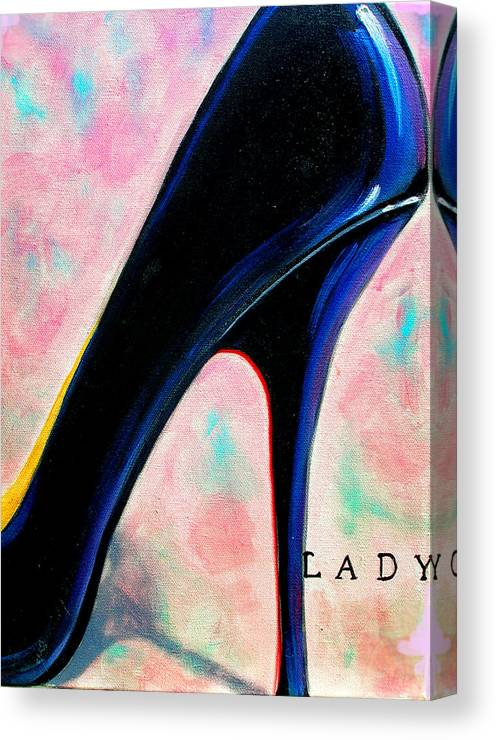 Shoe Canvas Print featuring the painting Lady by Susi Franco