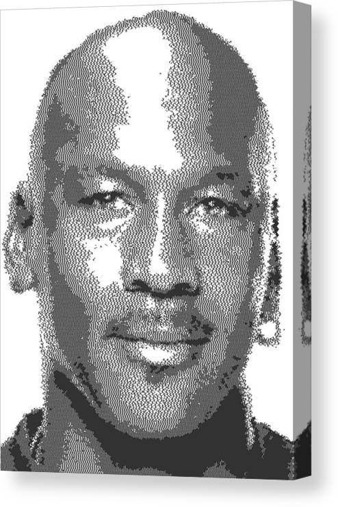 a05caa7f3dc10b Michael Jordan - Cross Hatching Canvas Print   Canvas Art by Samuel Majcen