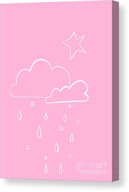 Sun Canvas Print featuring the painting Pink Sky by Sweeping Girl