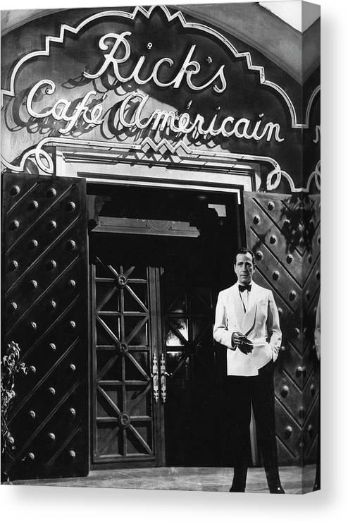Ricks Cafe Americain Casablanca 1942 Canvas Print featuring the photograph Ricks Cafe Americain Casablanca 1942 by David Lee Guss