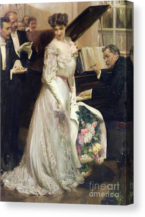 The Celebrated Canvas Print featuring the painting The Celebrated by Joseph Marius Avy