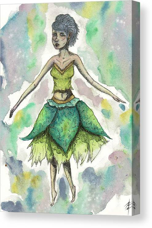 Forest Sprite Canvas Print featuring the painting The Forest Sprite by Sydney Ryan