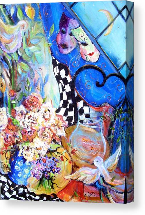 Fantasy Canvas Print featuring the painting The Good Life  by Elaine Cory