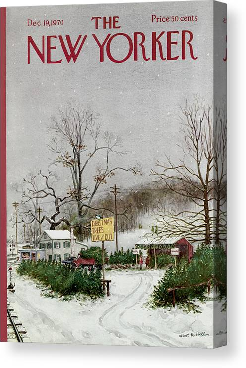 Christmas Canvas Print featuring the painting The New Yorker Cover - December 19th, 1970 by Conde Nast