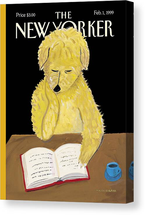 Animals Canvas Print featuring the photograph The New Yorker Cover - February 1, 1999 by Maira Kalman
