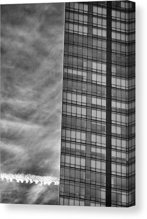 Architecture Canvas Print featuring the photograph White Plains Office Building 8 by Robert Ullmann