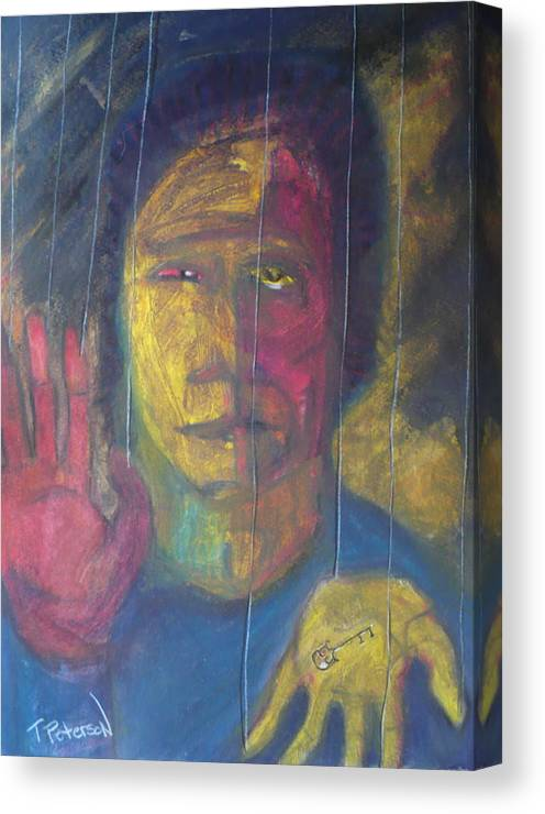 Portrait Canvas Print featuring the painting Wont Get Fooled Again by Todd Peterson