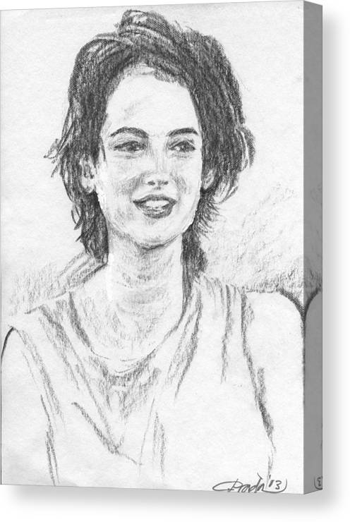 Portrait Canvas Print featuring the drawing W.r. by Horacio Prada