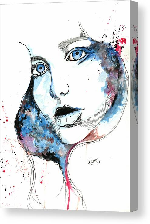 Watercolor Canvas Print featuring the painting You Are My Universe by Kiera McIntosh