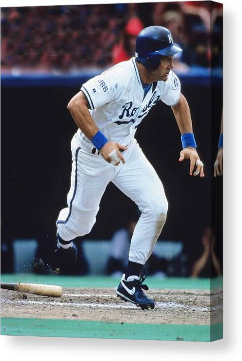 American League Baseball Canvas Print featuring the photograph Kansas City Royals 1 by Ronald C. Modra/sports Imagery