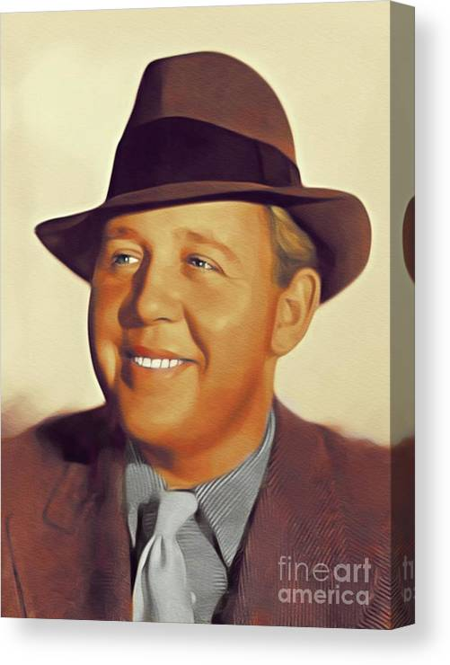 Charles Canvas Print featuring the painting Charles Laughton, Vintage Actor by John Springfield