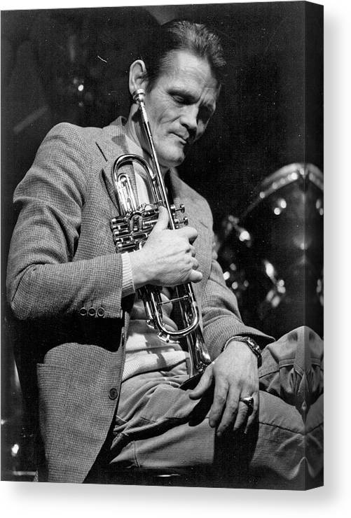 Music Canvas Print featuring the photograph Chet Baker Performing by Tom Copi