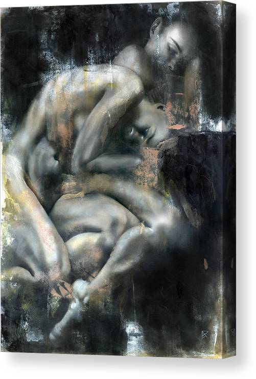 Figurative Canvas Print featuring the painting Equinox by Patricia Ariel