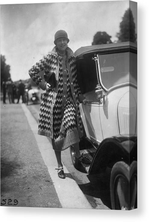 Sweater Canvas Print featuring the photograph Outfit By Paquin by Seeberger Freres