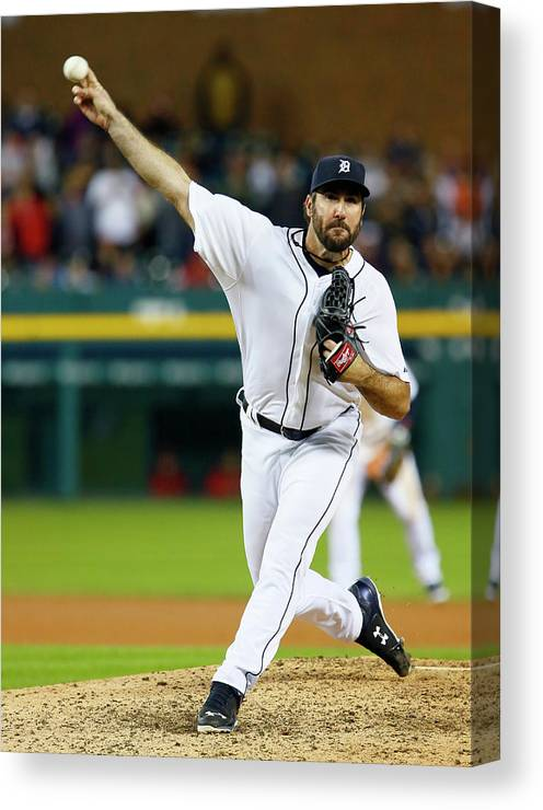 Ninth Inning Canvas Print featuring the photograph Justin Verlander by Duane Burleson