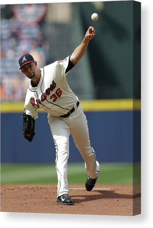 Atlanta Canvas Print featuring the photograph Mike Minor by Mike Zarrilli