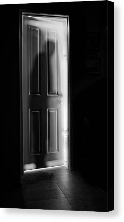 Door Canvas Print featuring the photograph Behind The Door by Steve Peterson