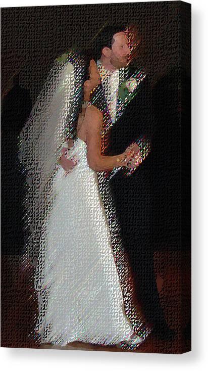 Wedding Canvas Print featuring the digital art First Dance by JoAnne Castelli-Castor