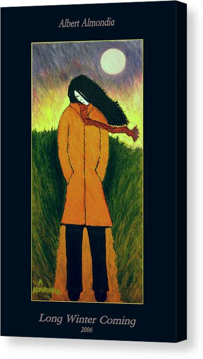 Figurative Canvas Print featuring the painting Long Winter Coming by Albert Almondia