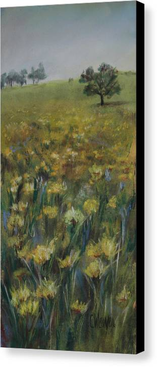 Landscape Canvas Print featuring the painting Mourning In May by Cathy Weaver