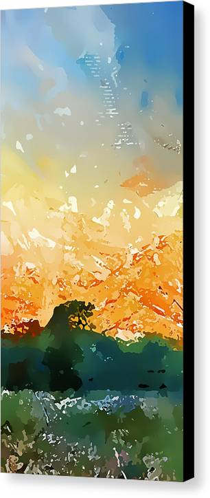 Abstract Canvas Print featuring the photograph Abstractograpia IIi by Gareth Davies