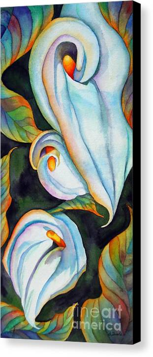 Floral Canvas Print featuring the painting Soft Swirl by Gail Zavala