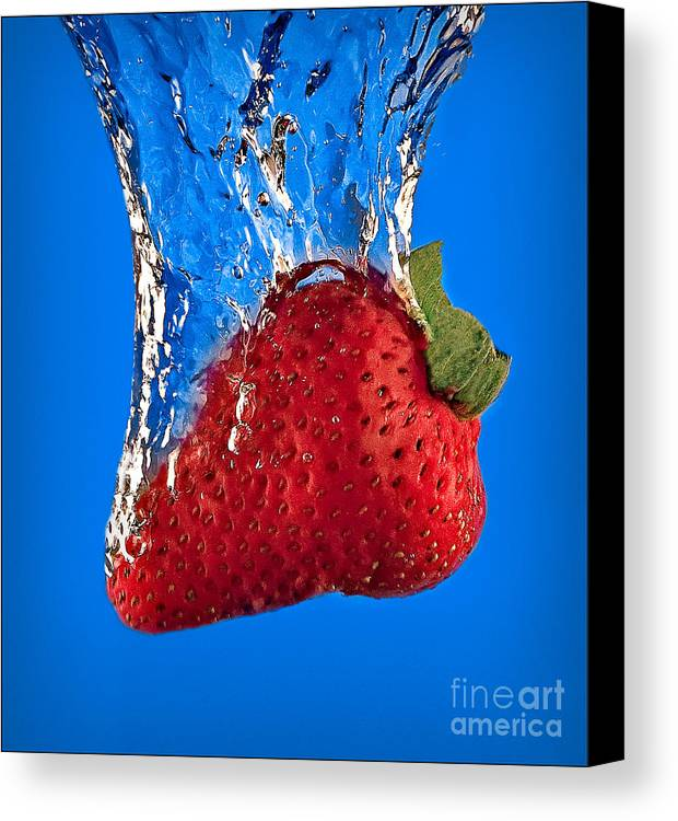 Strawberry Canvas Print featuring the photograph Strawberry Slam Dunk by Susan Candelario