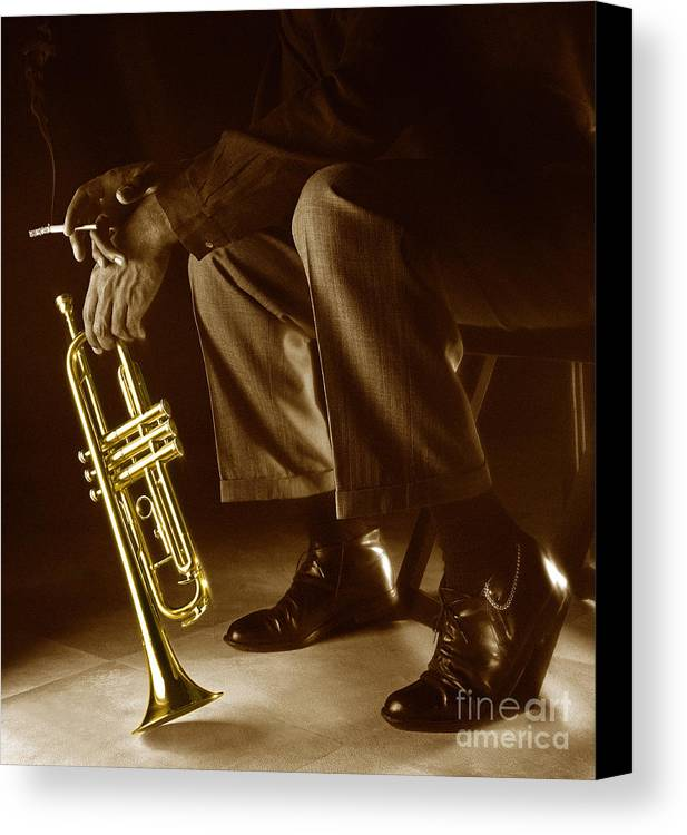 Trumpet Canvas Print featuring the photograph Trumpet 2 by Tony Cordoza