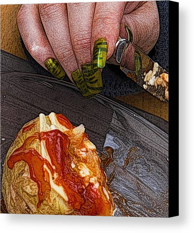 Potato Canvas Print featuring the photograph Enjoy by Barry Hayton