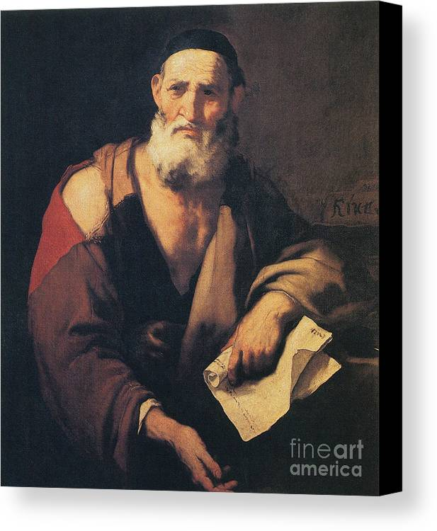Science Canvas Print featuring the photograph Leucippus, Ancient Greek Philosopher by Science Source