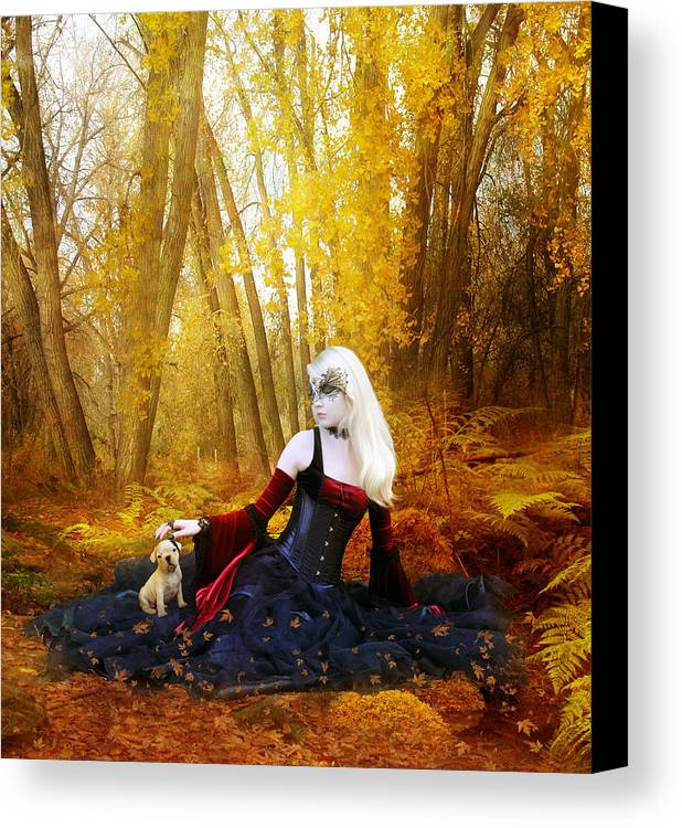 Woman Canvas Print featuring the digital art Warm Friends by Mary Hood