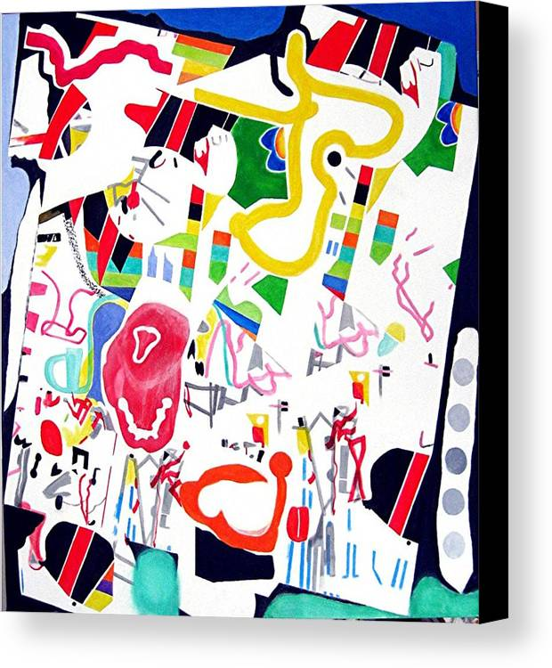 Fun Abstract Canvas Print featuring the painting Amusement Park by Barron Holland