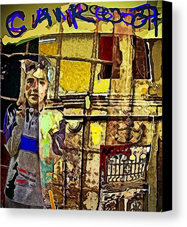Cairo Canvas Print featuring the painting Cairo 07 by Noredin Morgan