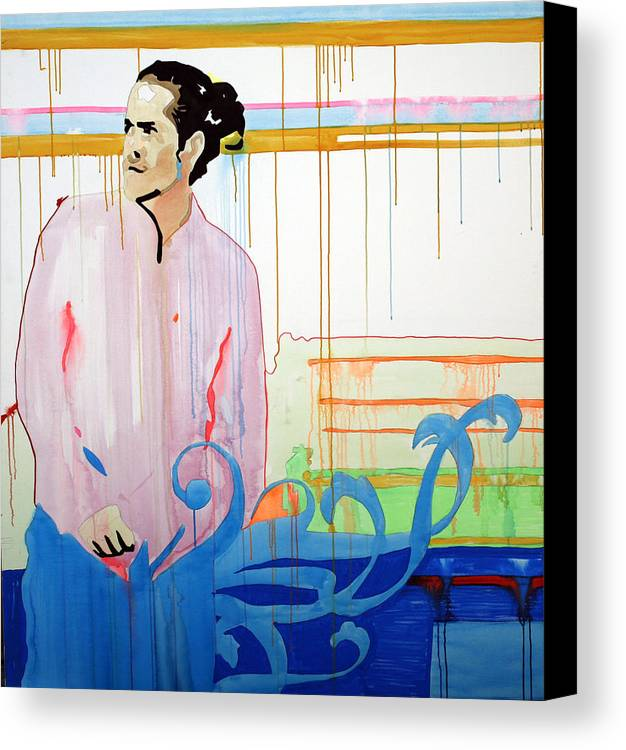 Citizen Canvas Print featuring the painting Citizen Cope - Seattle - The Showbox - May 28th 2007 by Pete Nawara
