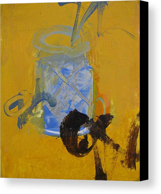 Abstract Painting Canvas Print featuring the painting Gold by Cliff Spohn