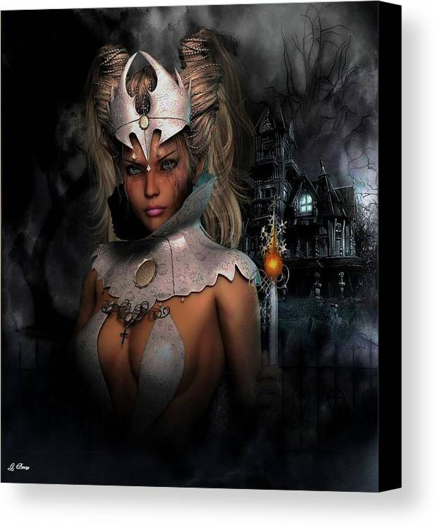Halloween Canvas Print featuring the photograph Haunting Warrior by G Berry