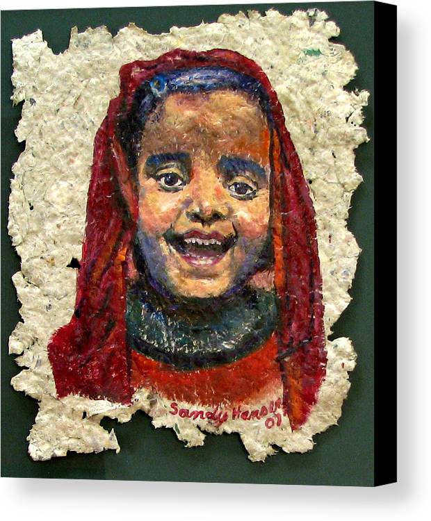 Joy Canvas Print featuring the painting Joy by Art Nomad Sandra Hansen
