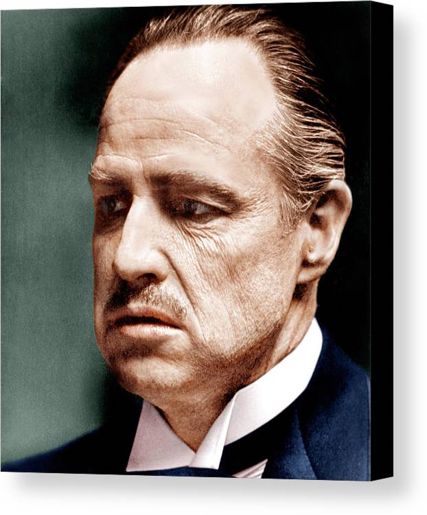 1970s Portraits Canvas Print featuring the photograph The Godfather, Marlon Brando, 1972 by Everett