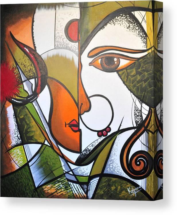 Art Modern Painting Durga Picture