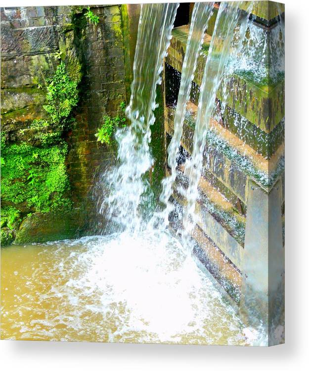 Water Canvas Print featuring the photograph Waterfall by John Jones