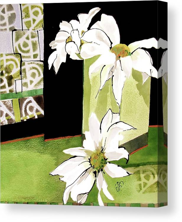 Flowers Canvas Print featuring the painting Daisy Delight by Jane Ferguson