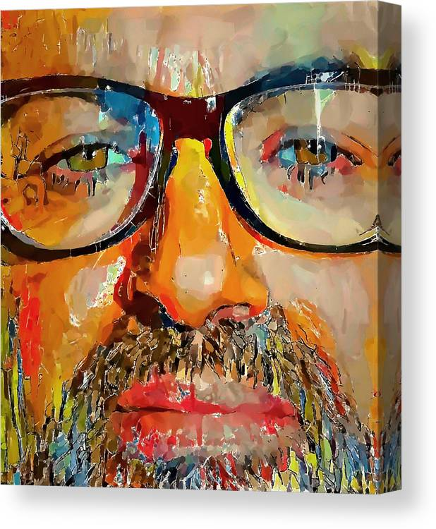 George Canvas Print featuring the digital art George Michael Tribute 2 by Yury Malkov
