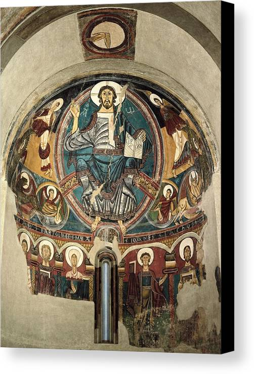Vertical Canvas Print featuring the photograph Sant Climent De Ta�ll, Master Of 12th by Everett