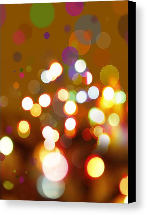 Bright Lights Canvas Print featuring the digital art Abstract Background by Les Cunliffe