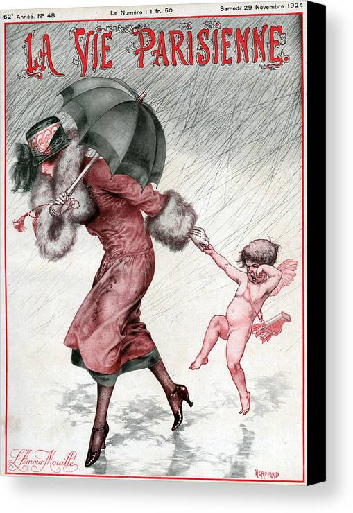 French Canvas Print featuring the drawing La Vie Parisienne 1924 1920s France by The Advertising Archives