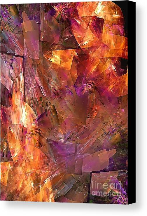 Graphics Canvas Print featuring the photograph Abstraction 0273 Marucii by Marek Lutek