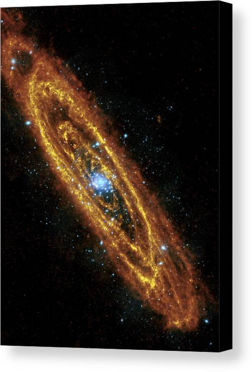 3scape Photos Canvas Print featuring the photograph Andromeda Galaxy by Adam Romanowicz