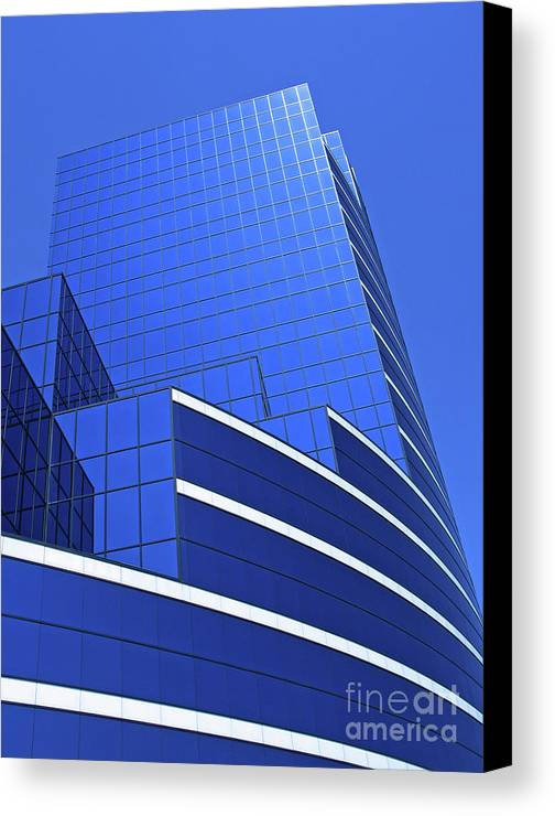 Architecture Canvas Print featuring the photograph Architectural Blues by Ann Horn