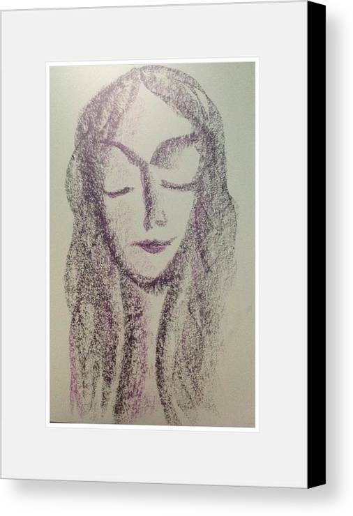 Woman Canvas Print featuring the photograph Art Therapy 160 by Michele Monk