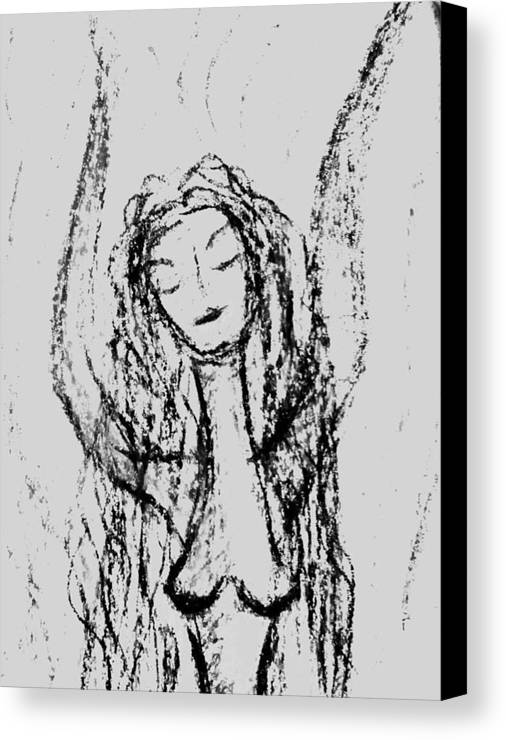 Woman Canvas Print featuring the photograph Art Therapy 165 by Michele Monk
